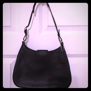 Authentic black Coach small handbag!